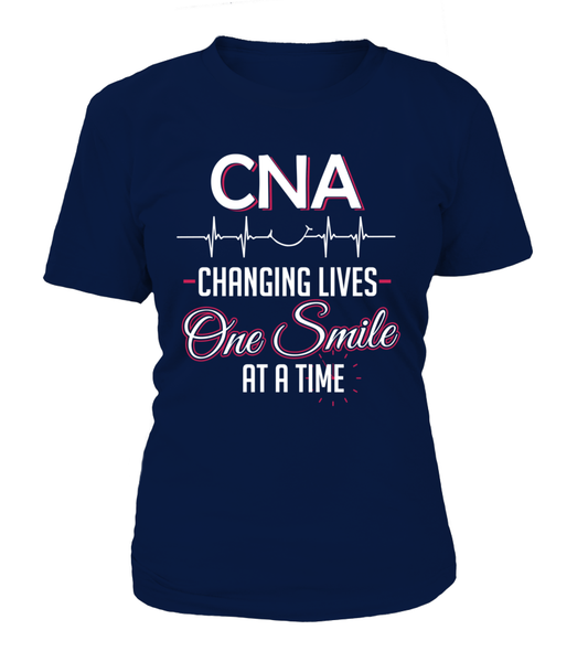 CNA Changing Lives - One Smile At A Time Shirt - Giggle Rich - 11