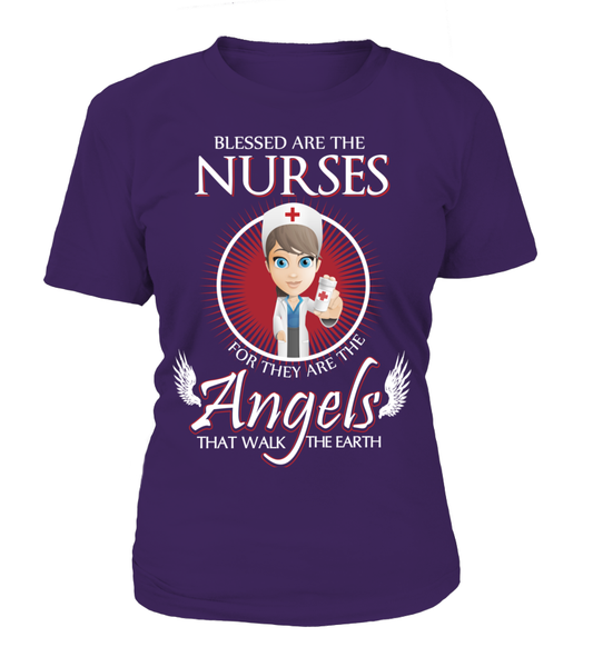 Nurses Are The Angels That Walk The Earth Shirt - Giggle Rich - 8