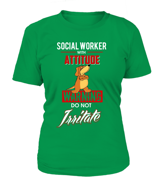 Social Worker With Attitude Shirt - Giggle Rich - 12