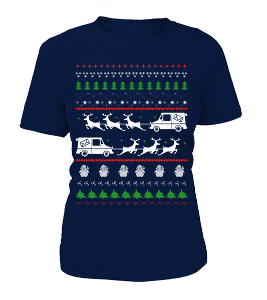 Postal Workers Ugly Christmas Sweater D4 Shirt - Giggle Rich - 15