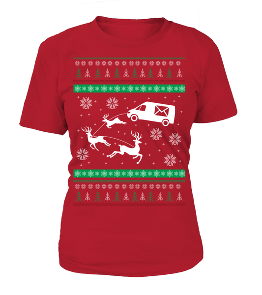 Postal Workers Ugly Christmas Sweater D1 Shirt - Giggle Rich - 16