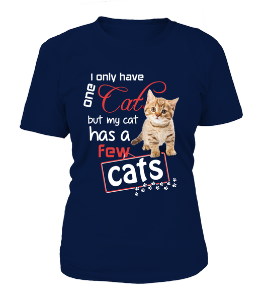 I Only Have One Cat Shirt - Giggle Rich - 15