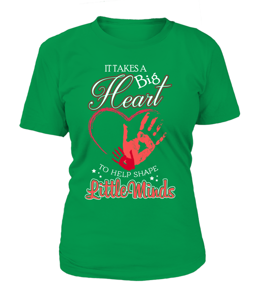 It Takes Big Heart To Help Shape Little Minds Shirt - Giggle Rich - 5