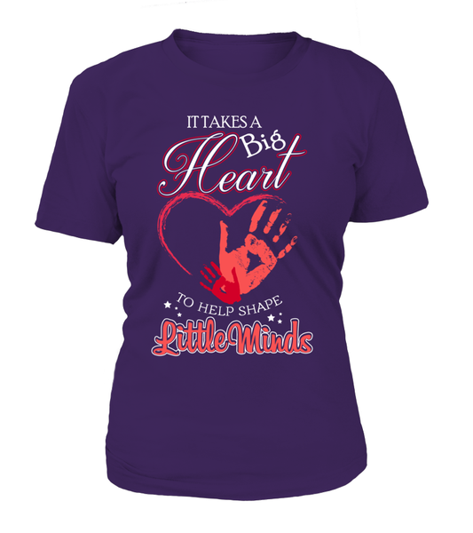 It Takes Big Heart To Help Shape Little Minds Shirt - Giggle Rich - 4