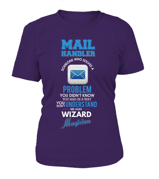 Mail Handler Solves Problems Shirt - Giggle Rich - 11