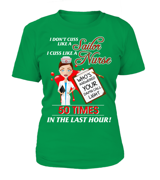 I Cuss Like A Nurse Shirt - Giggle Rich - 10