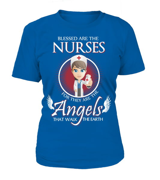 Nurses Are The Angels That Walk The Earth Shirt - Giggle Rich - 10