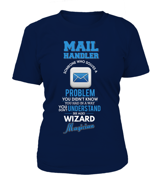 Mail Handler Solves Problems Shirt - Giggle Rich - 9