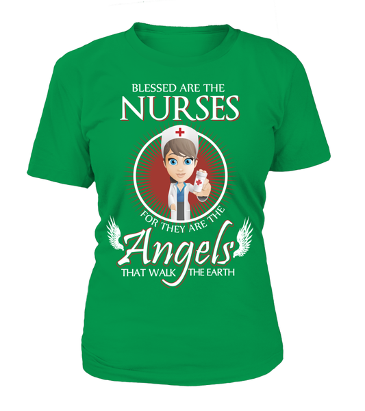 Nurses Are The Angels That Walk The Earth Shirt - Giggle Rich - 9