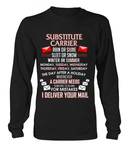 Substitute Carrier - I Deliver Your Mail