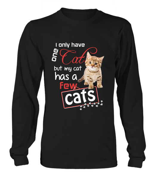 I Only Have One Cat Shirt - Giggle Rich - 8