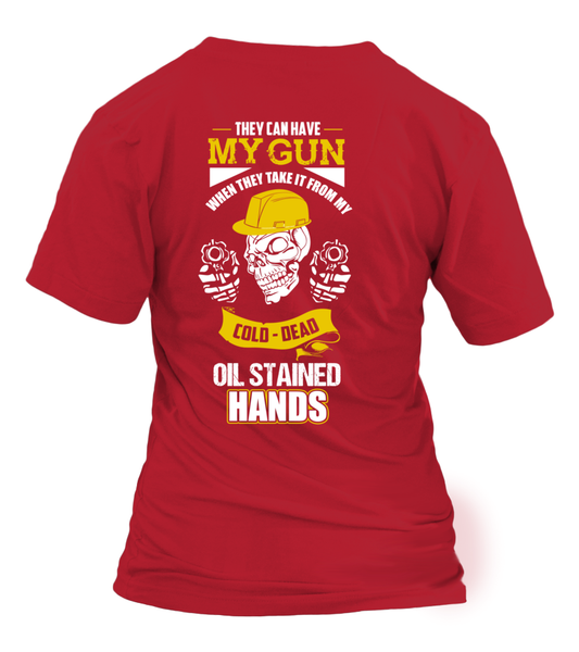 Oil Stained Hands Shirt - Giggle Rich - 26