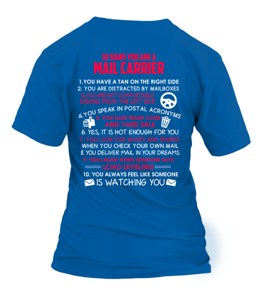 10 Signs That You Are A Mail Carrier Shirt - Giggle Rich - 30