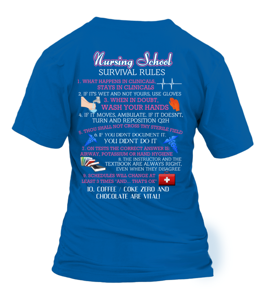 Nursing School Survival Rules Shirt - Giggle Rich - 30