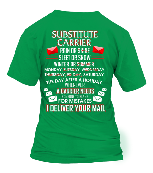 Substitute Carrier Deliver Your Mail Shirt - Giggle Rich - 28