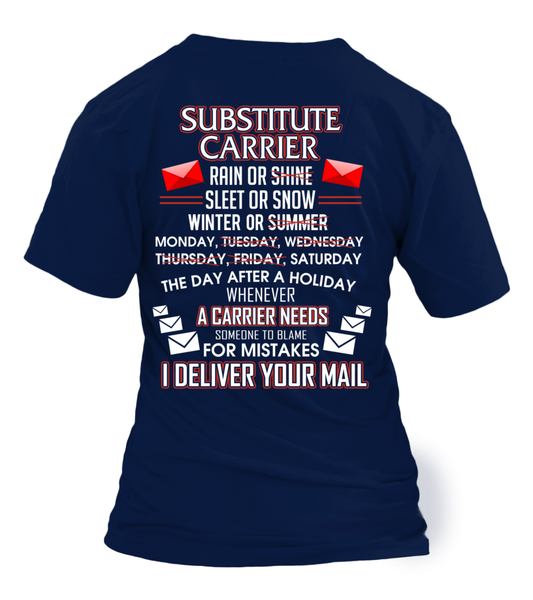 Substitute Carrier Deliver Your Mail Shirt - Giggle Rich - 32