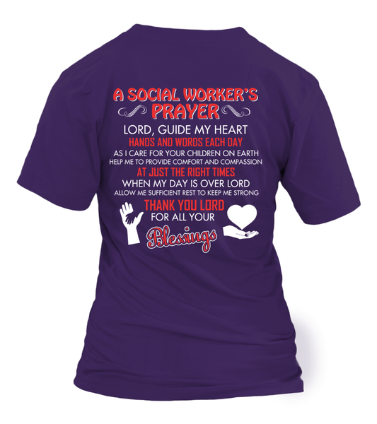 A Social Worker's Prayer Shirt - Giggle Rich - 15