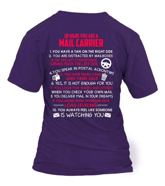 10 Signs That You Are A Mail Carrier Shirt - Giggle Rich - 26