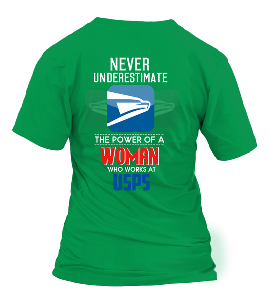 Never Underestimate The Power Of A Mail Lady Shirt - Giggle Rich - 32