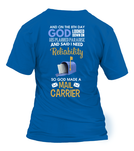 On The 8th Day God Made a Mail Carrier Shirt - Giggle Rich - 30