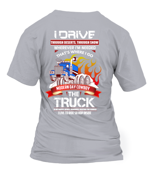 Modern Day Cowboy, The TRUCK Shirt - Giggle Rich - 30