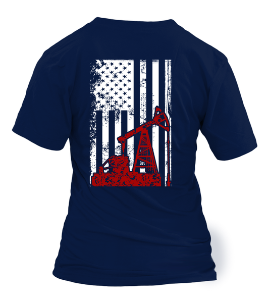 American Oilfield Worker Shirt - Giggle Rich - 12