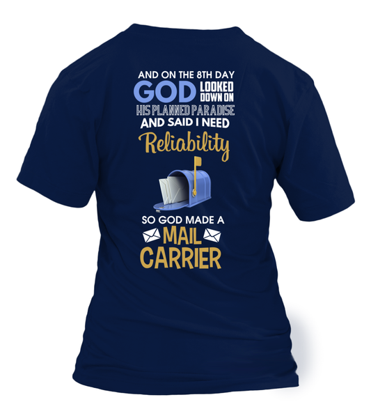 On The 8th Day God Made a Mail Carrier Shirt - Giggle Rich - 24