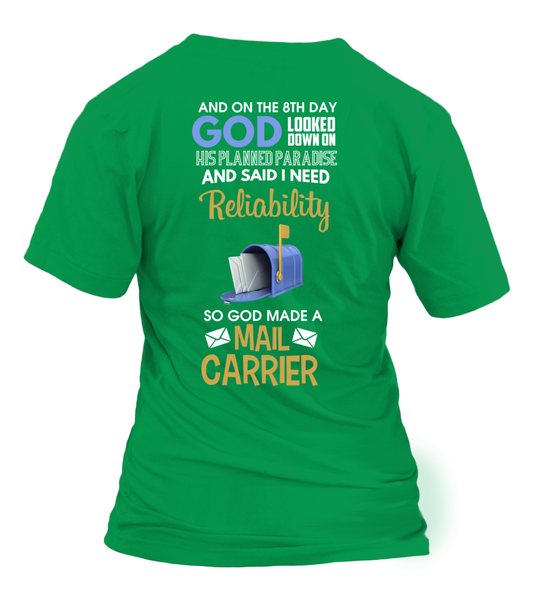 On The 8th Day God Made a Mail Carrier Shirt - Giggle Rich - 28