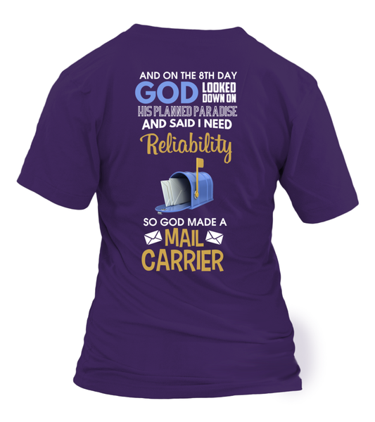 On The 8th Day God Made a Mail Carrier Shirt - Giggle Rich - 26