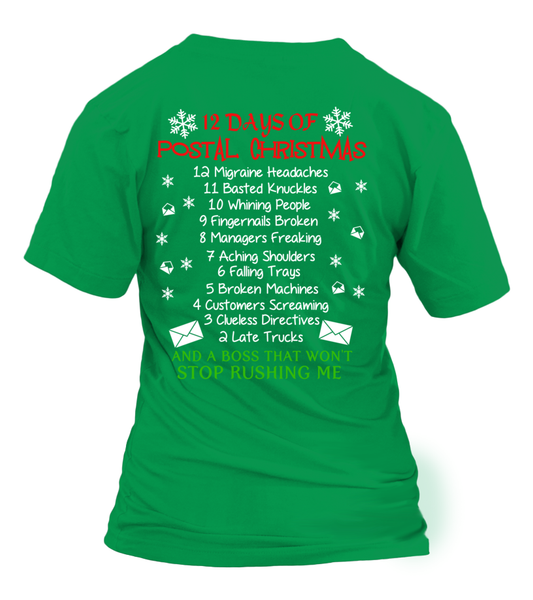 12 Days Of Postal Christmas Shirt - Giggle Rich - 28