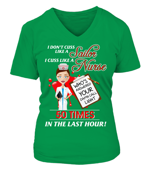 I Cuss Like A Nurse Shirt - Giggle Rich - 14