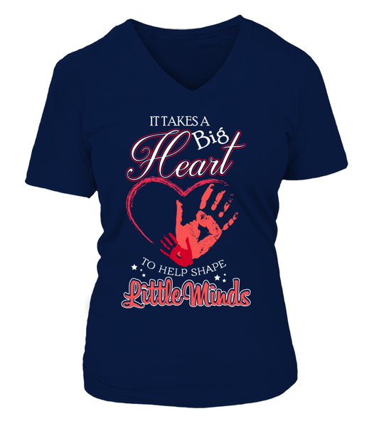 It Takes Big Heart To Help Shape Little Minds Shirt - Giggle Rich - 12