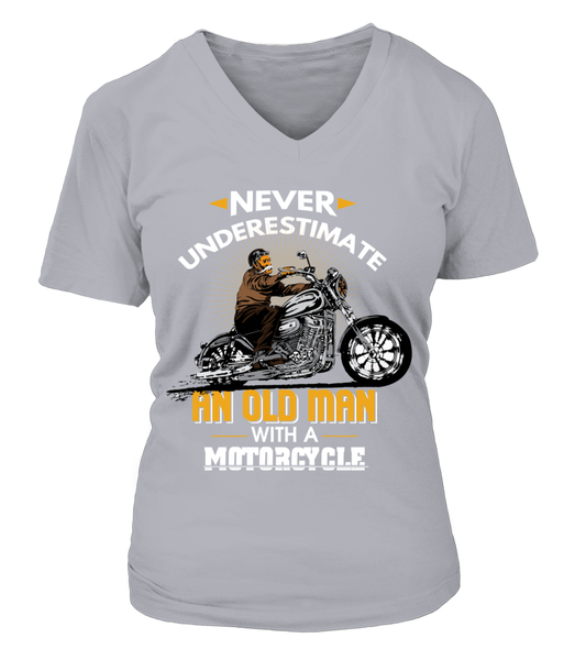 Never Underestimate An Old Man With A Motorcycle Shirt - Giggle Rich - 5