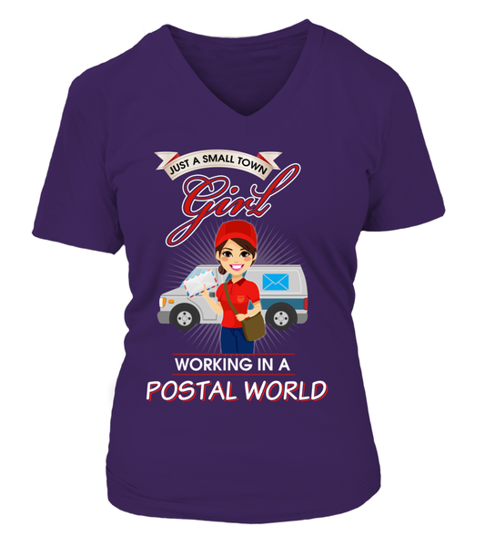 Small Town Girl Working In A Postal World Shirt - Giggle Rich - 13