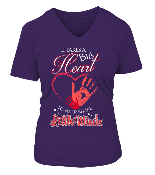 It Takes Big Heart To Help Shape Little Minds Shirt - Giggle Rich - 9