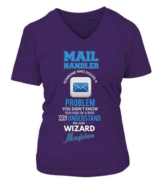 Mail Handler Solves Problems Shirt - Giggle Rich - 15
