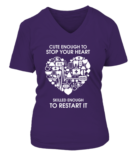 Cute Enough To Stop Your Heart Shirt - Giggle Rich - 13