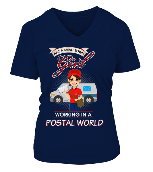 Small Town Girl Working In A Postal World Shirt - Giggle Rich - 16