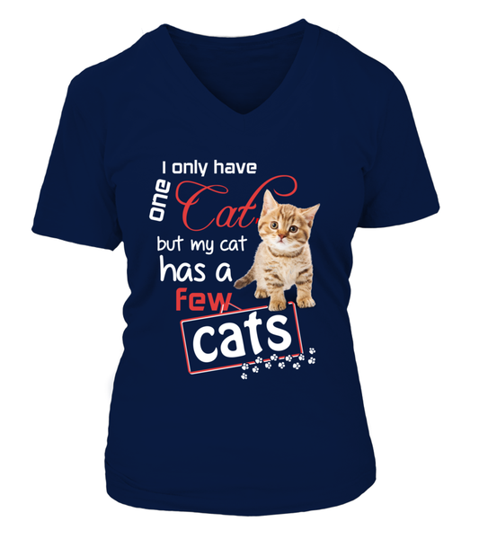 I Only Have One Cat Shirt - Giggle Rich - 16