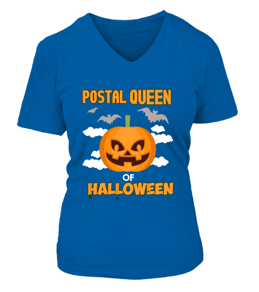 Postal Queen Of Halloween Shirt - Giggle Rich - 16