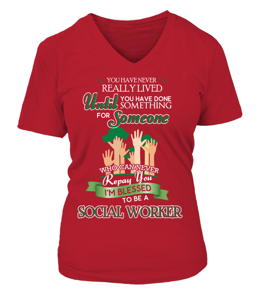 I'm Blessed To Be A Social Worker Shirt - Giggle Rich - 13