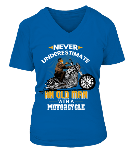 Never Underestimate An Old Man With A Motorcycle Shirt - Giggle Rich - 4