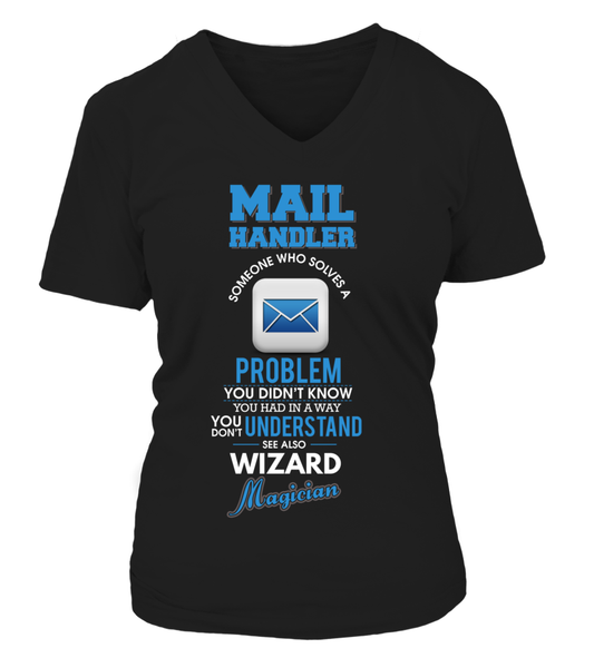 Mail Handler Solves Problems Shirt - Giggle Rich - 12