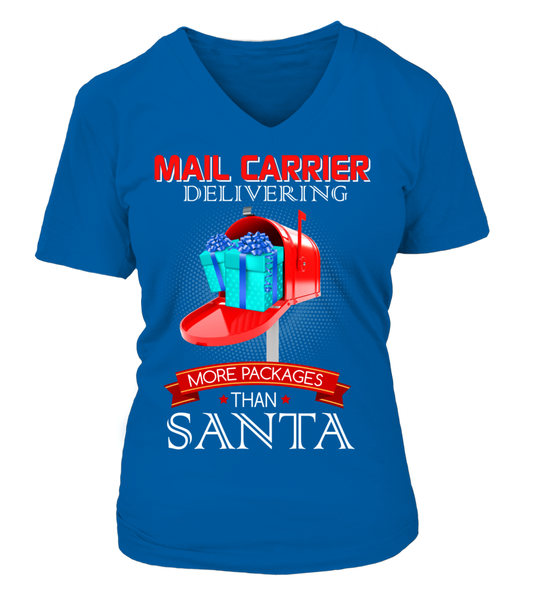 Mail Carriers Delivering More Packages Than Santa Shirt - Giggle Rich - 5