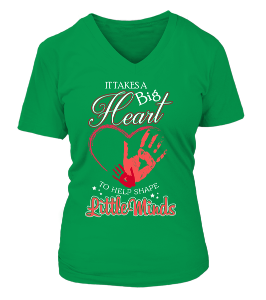 It Takes Big Heart To Help Shape Little Minds Shirt - Giggle Rich - 11