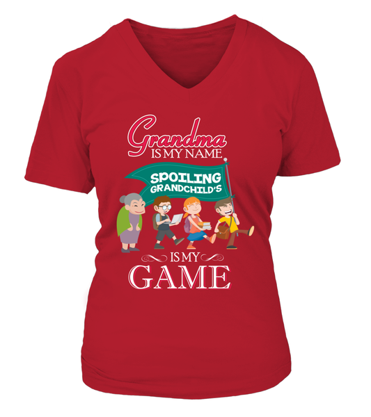 Grandma Is My Name And Spoiling Is My Game Shirt - Giggle Rich - 13