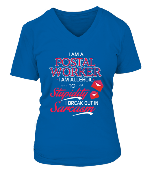 Postal Worker Are Allergic To Stupidity Shirt - Giggle Rich - 15