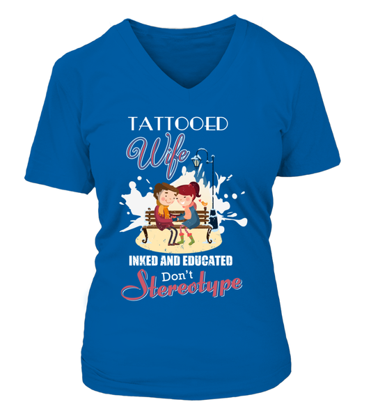 Tattooed Wife Inked And Educated Shirt - Giggle Rich - 16