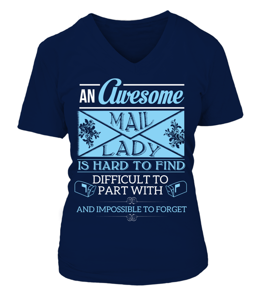 An Awesome Mail Lady Shirt - Giggle Rich - 16