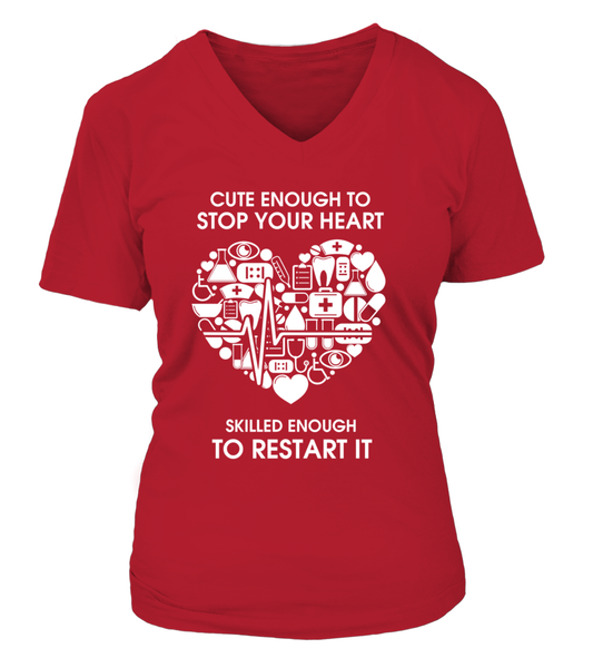 Cute Enough To Stop Your Heart Shirt - Giggle Rich - 15